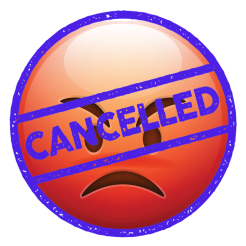 Cancelled Angry Emoji
